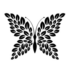 graphic icon butterfly leaves wings vector image