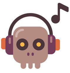 halloween music flat vector image