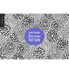 Hand drawn black and white pattern vector