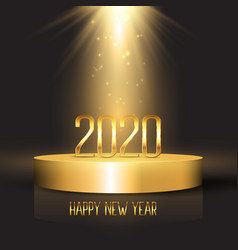 Happy new year background with numbers on podium vector