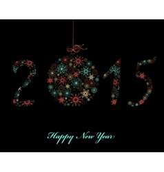 Happy New Year Greeting card 2015 vector image
