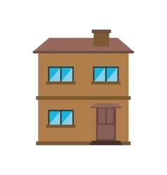House facade residential estructure design vector