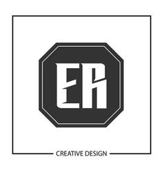 Initial letter er logo template design vector