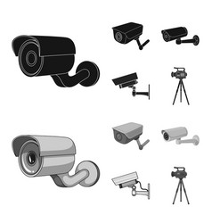 Isolated object camcorder and camera icon set vector