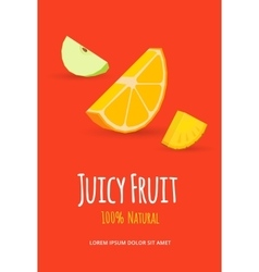 juicy fruits poster vector image