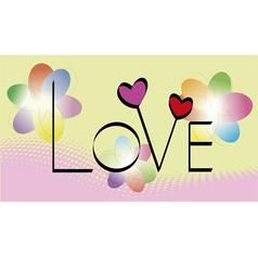 Love Card vector image