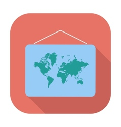 Map flat icon vector image