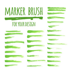 marker banners brush lines and stains vector image
