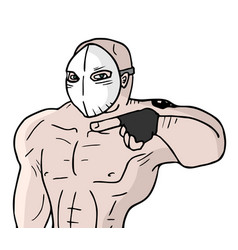 Mask man vector