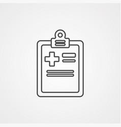medical history icon sign symbol vector image