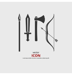 Medieval weapon vector image