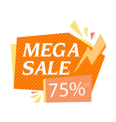mega sale 75 off bolt background image vector image