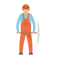 Miner icon flat style vector