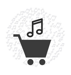 Mobile music commerce online vector