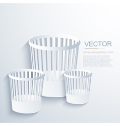 modern bin background vector image