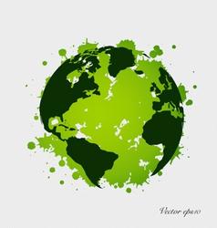 Modern green globe vector image