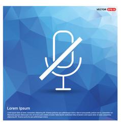 no microphone icon vector image