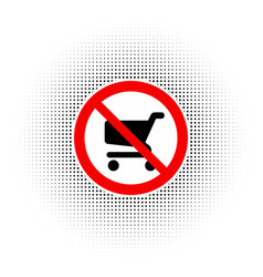 no shopping carts icon sign vector image