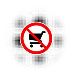 no shopping carts icon sign vector image