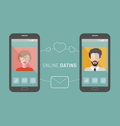online dating man and woman vector image