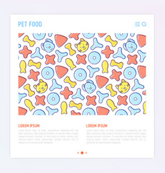 Pet food concept with thin line icons vector