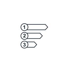 Priority creative icon from artificial vector
