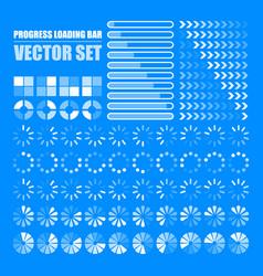 progress loading bar set indicators download vector image