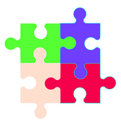 puzzle icon in trendy style design graphic vector image