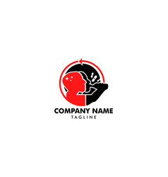 Rehabilitation logo recovery for drug addicts vector