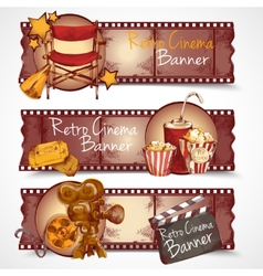Retro cinema banners vector