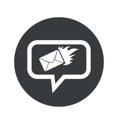 Round burning letter dialog icon vector
