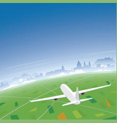 Salzburg skyline flight destination vector