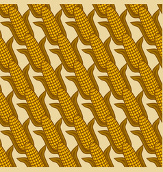 seamless diagonal pattern with ears corn vector image