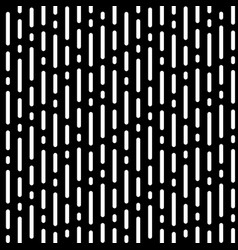 seamless pattern white rounded lines on black vector image