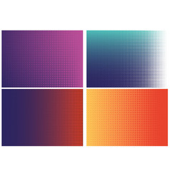 set geometric textures vector image