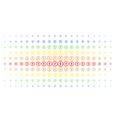 sharp rounded arrow spectrum halftone matrix vector image