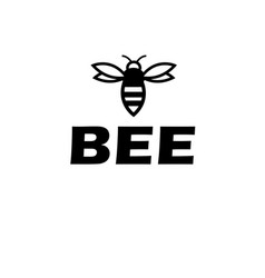 sign poster with a bee vector image