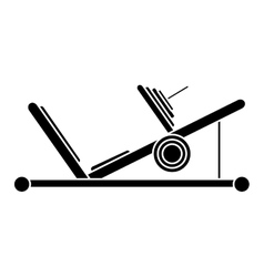 Silhouette press legs sport machine gym design vector
