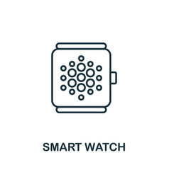 smart watch outline icon creative design from vector image