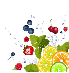Splash of Fruit Background vector