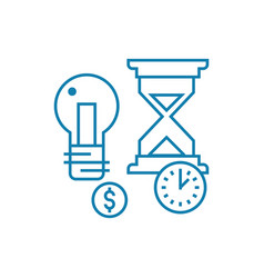 terms of project implementation linear icon vector image