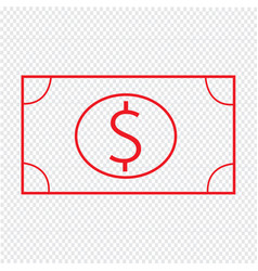 thin line money icon design vector image