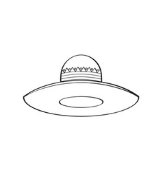 traditional mexican hat sketch vector image