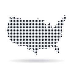 Usa dot map concept for networking technology and vector