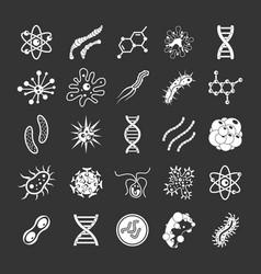 virus icon set grey vector image