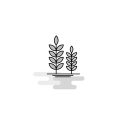 wheat web icon flat line filled gray icon vector image