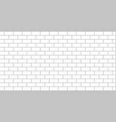 White brick wall flat isolated vector