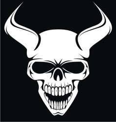 White Demons Head vector image