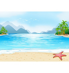 A view of the beach vector image vector image