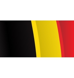 Background with waving Belgian Flag vector image vector image